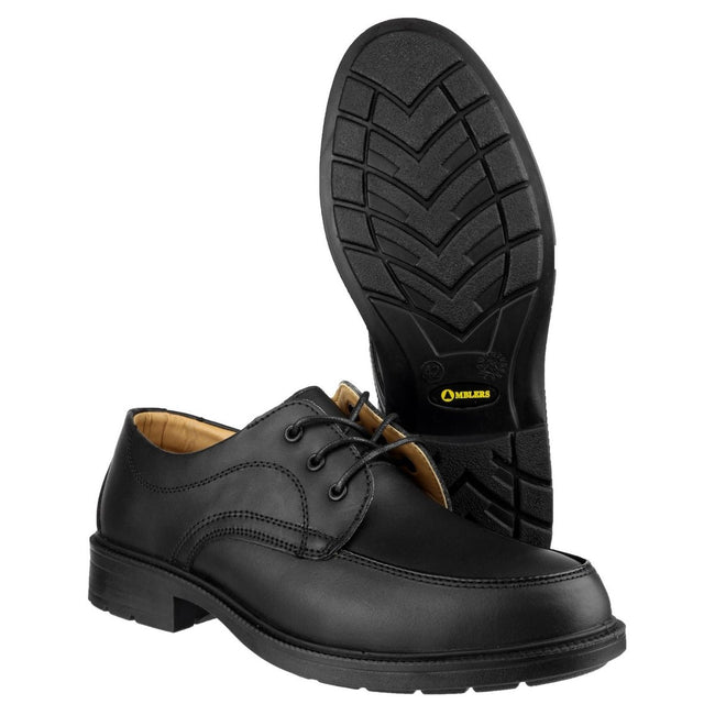 Black - Back - Amblers Steel FS65 Safety Gibson - Mens Shoes - Safety Shoes