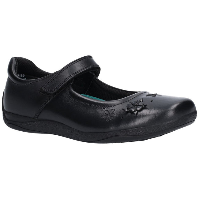 Black - Front - Hush Puppies Girls Candy Senior Touch Fastening Shoe