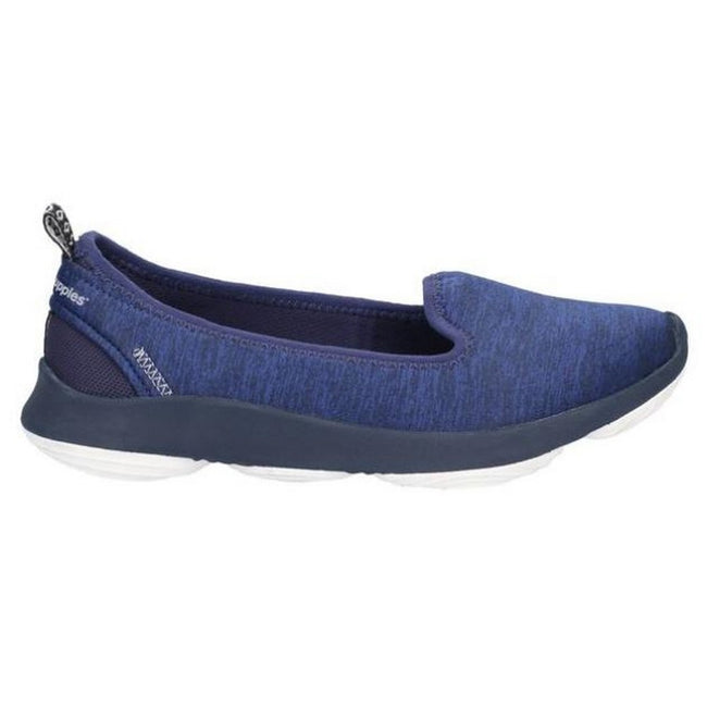 Navy - Back - Hush Puppies Womens-Ladies Life Slip On Shoes