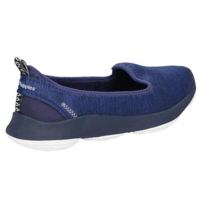 Navy - Side - Hush Puppies Womens-Ladies Life Slip On Shoes