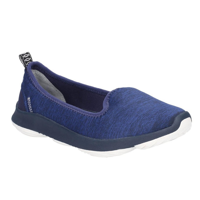 Navy - Front - Hush Puppies Womens-Ladies Life Slip On Shoes