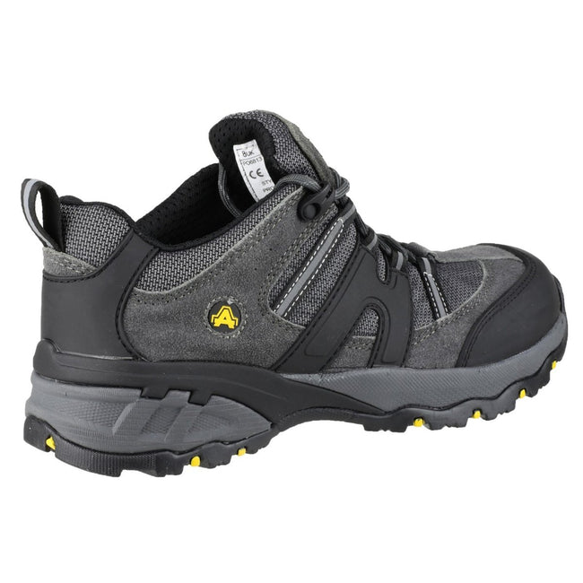 Grey - Back - Amblers Steel FS188n Safety  - Mens Shoes