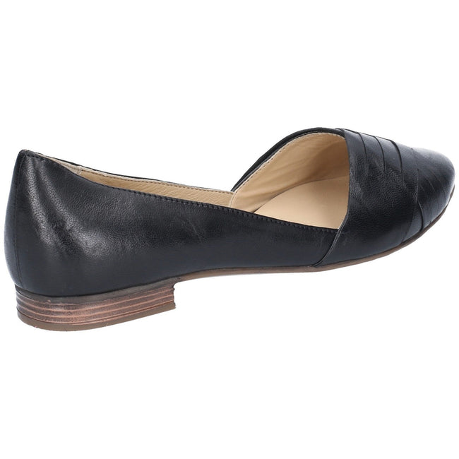 Tan - Lifestyle - Hush Puppies Womens-Ladies Marley Ballerina Leather Slip On Shoes