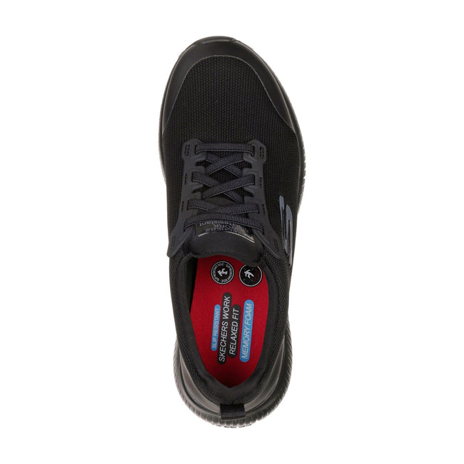 Black - Lifestyle - Skechers Womens-Ladies Squad Lace Up Safety Shoes