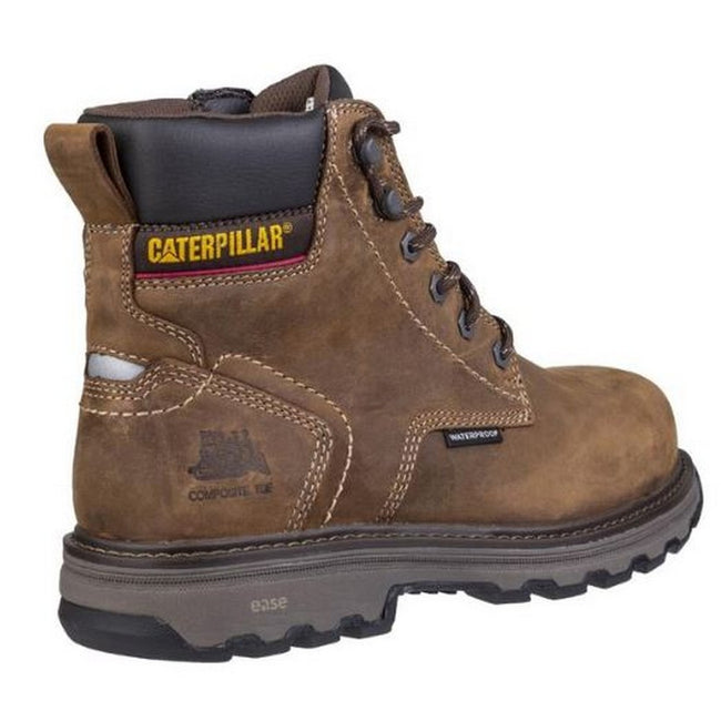 Dark Brown - Back - Caterpillar Mens Precision Lace Up Leather Boot