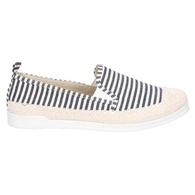 Navy - Back - Fleet & Foster Womens-Ladies Paradise Nautical Espadrille Loafer