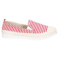 Red - Back - Fleet & Foster Womens-Ladies Paradise Nautical Espadrille Loafer
