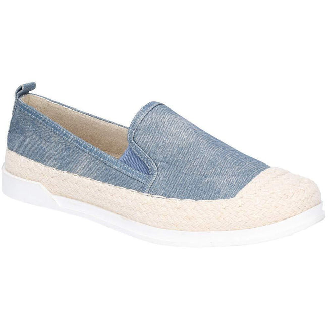 Denim - Front - Fleet & Foster Womens-Ladies Paradise Nautical Espadrille Loafer