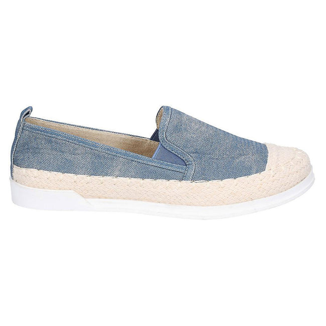 Denim - Back - Fleet & Foster Womens-Ladies Paradise Nautical Espadrille Loafer
