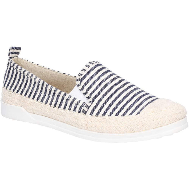 Navy - Front - Fleet & Foster Womens-Ladies Paradise Nautical Espadrille Loafer
