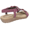 Plum - Side - Fleet & Foster Womens-Ladies Magnolia Elastic T-Bar Sandal