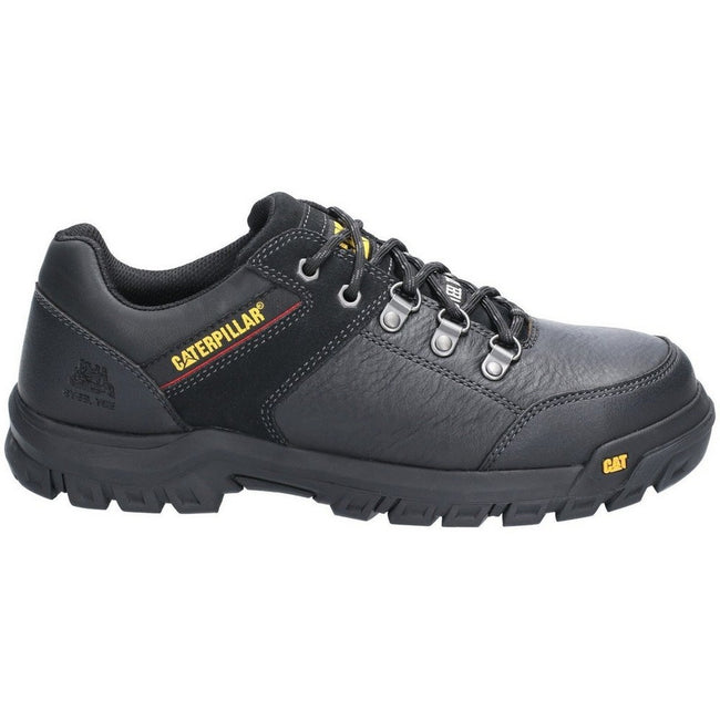 Black - Back - Caterpillar Mens Extension Lace Up Safety Shoe