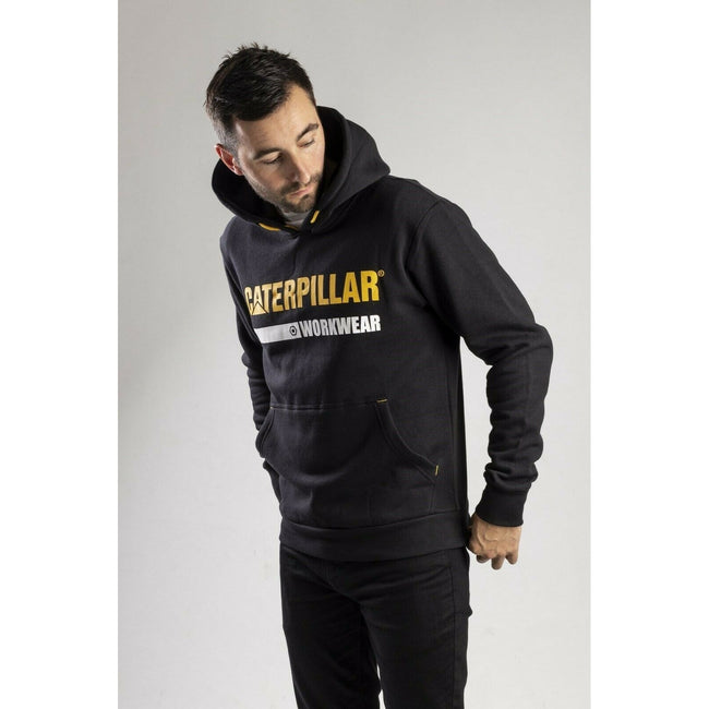 Black - Pack Shot - Caterpillar Essentials Unisex Hoodie