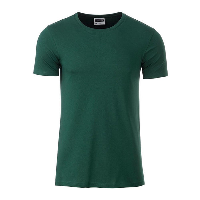 Dark Green - Front - James and Nicholson Mens Basic T-Shirt