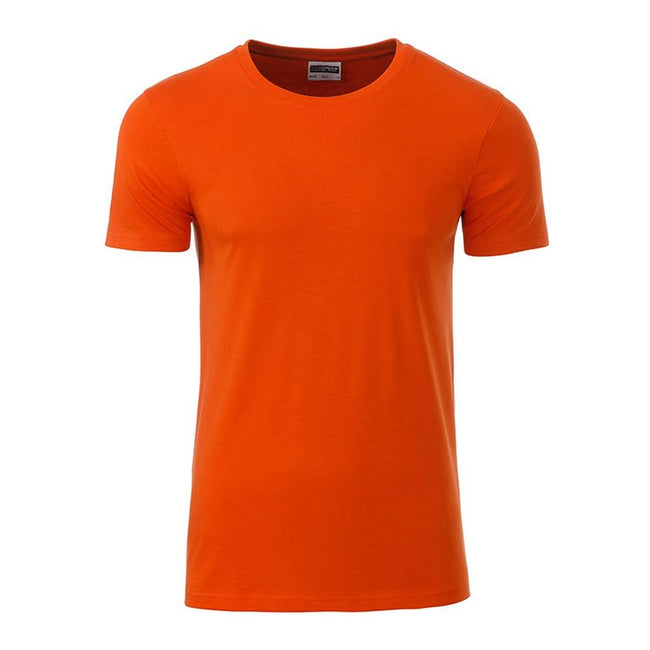 Dark Orange - Front - James and Nicholson Mens Basic T-Shirt