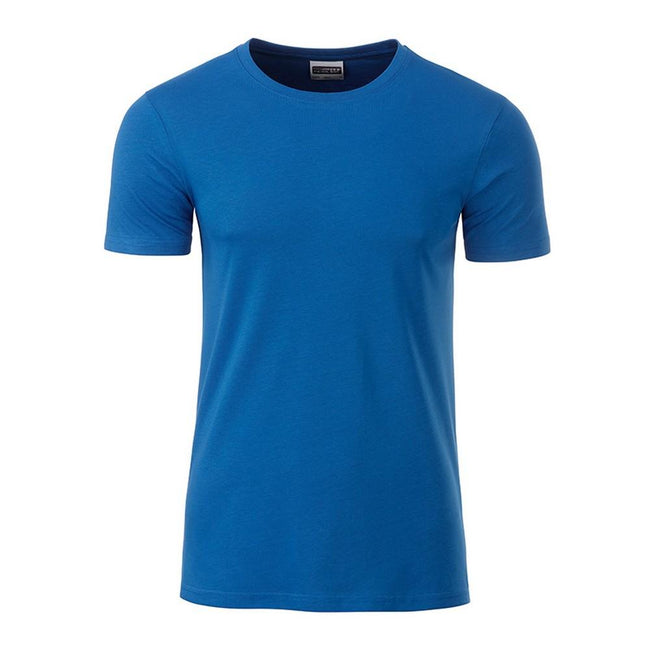 Royal Blue - Front - James and Nicholson Mens Basic T-Shirt