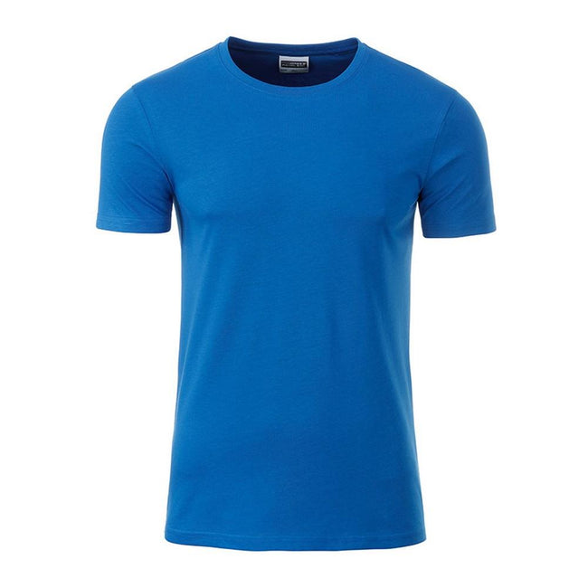 Cobalt Blue - Front - James and Nicholson Mens Basic T-Shirt
