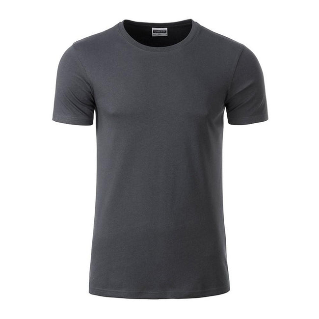 Graphite Grey - Front - James and Nicholson Mens Basic T-Shirt