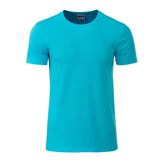 Turquoise - Front - James and Nicholson Mens Basic T-Shirt
