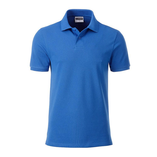 Cobalt Blue - Front - James and Nicholson Mens Basic Polo