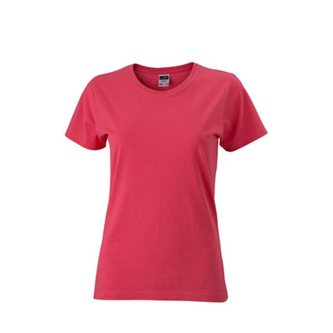 Light Berry - Front - James and Nicholson Womens-Ladies Slim Fit-T