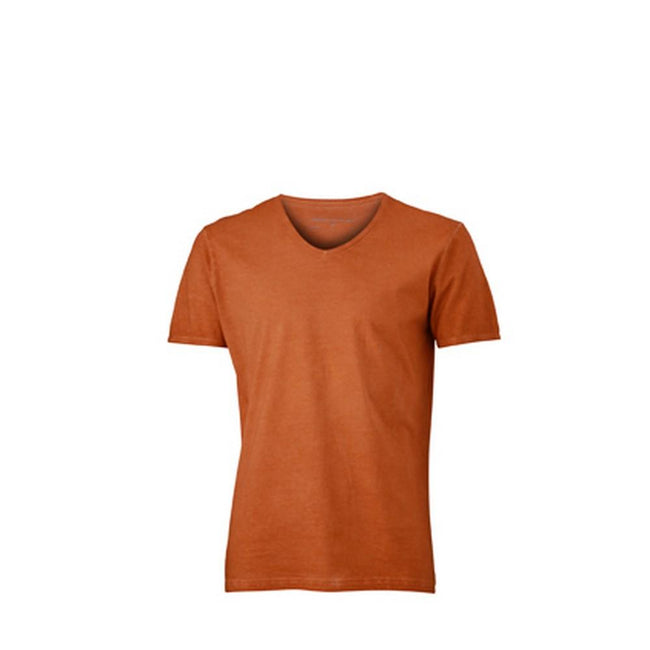 Terra Orange - Front - James and Nicholson Mens Gipsy T-Shirt