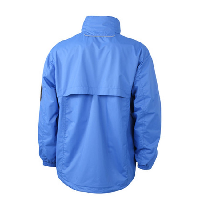 Royal Blue-Black - Back - James and Nicholson Mens Windbreaker