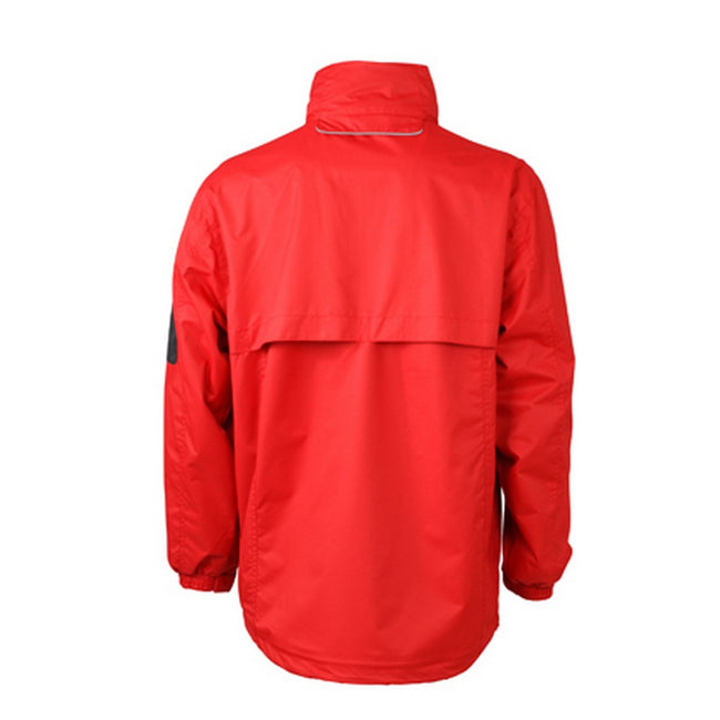 Red-Black - Back - James and Nicholson Mens Windbreaker