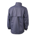 Navy-Aqua Blue - Back - James and Nicholson Mens Windbreaker