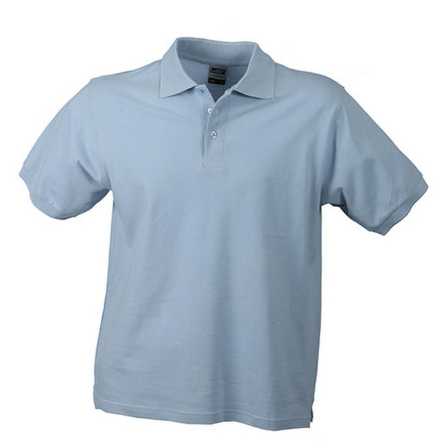 Light Blue - Front - James and Nicholson Mens Workwear Mens Polo