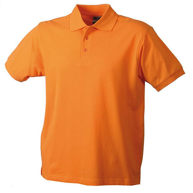 Orange - Front - James and Nicholson Mens Workwear Mens Polo