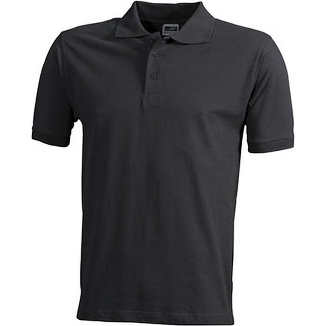 Carbon Grey - Front - James and Nicholson Mens Workwear Mens Polo