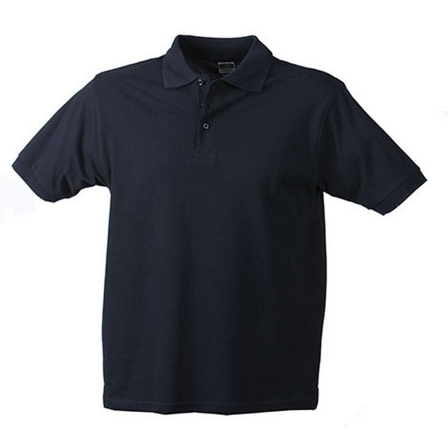 Navy - Front - James and Nicholson Mens Workwear Mens Polo