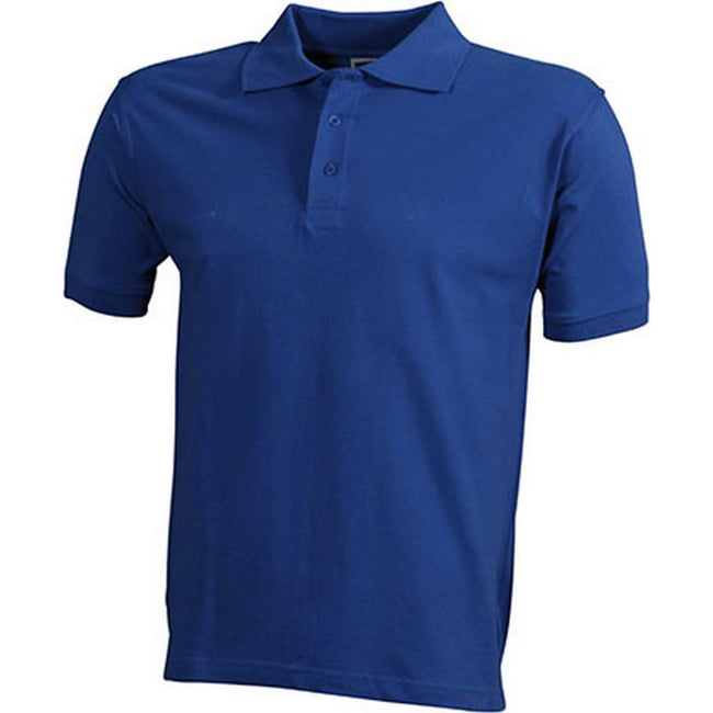 Royal Blue - Front - James and Nicholson Mens Workwear Mens Polo