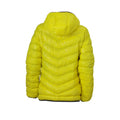 Yellow-Carbon Grey - Back - James and Nicholson Womens-Ladies Down Jacket