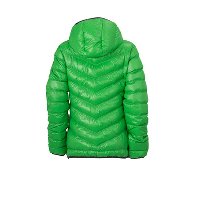 Green-Carbon Grey - Back - James and Nicholson Womens-Ladies Down Jacket