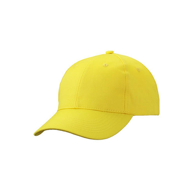 Sun Yellow - Front - Myrtle Beach Adults Unisex 6 Panel Workwear Cap