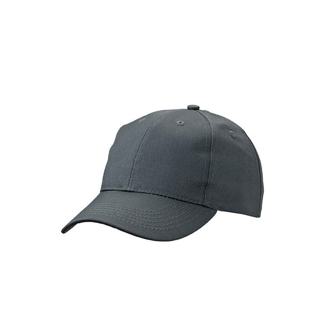 Carbon Grey - Front - Myrtle Beach Adults Unisex 6 Panel Workwear Cap