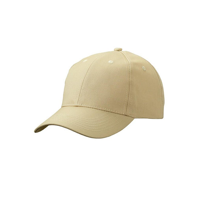 Stone - Front - Myrtle Beach Adults Unisex 6 Panel Workwear Cap