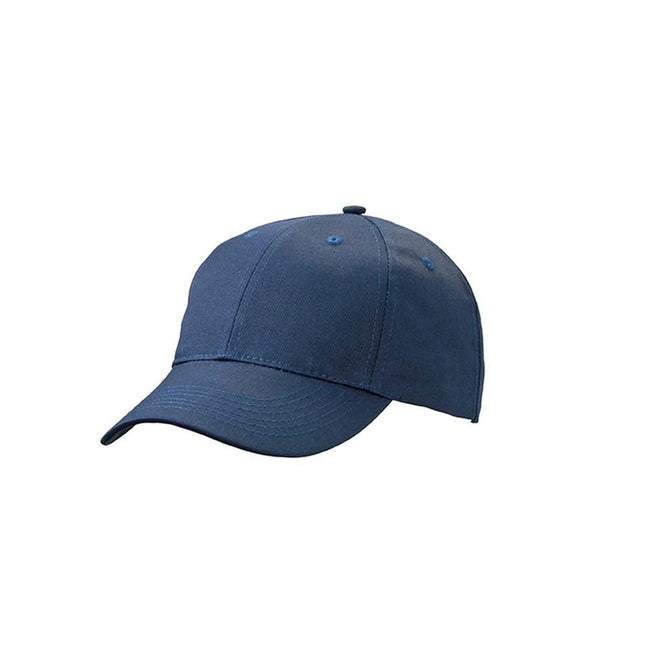 Navy - Front - Myrtle Beach Adults Unisex 6 Panel Workwear Cap