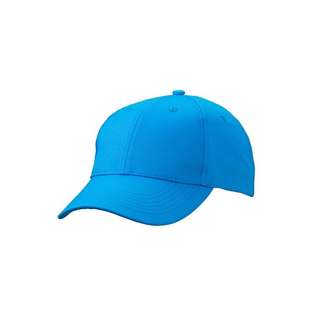 Atlantic Blue - Front - Myrtle Beach Adults Unisex 6 Panel Workwear Cap