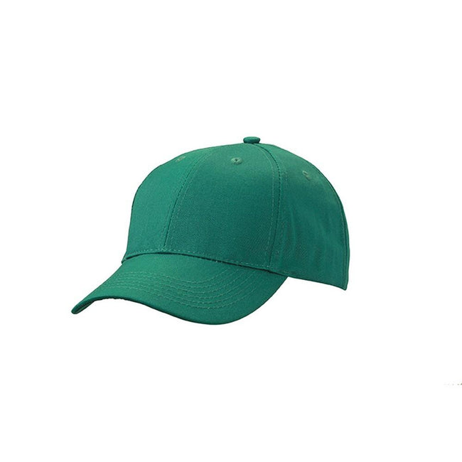 Dark Green - Front - Myrtle Beach Adults Unisex 6 Panel Workwear Cap