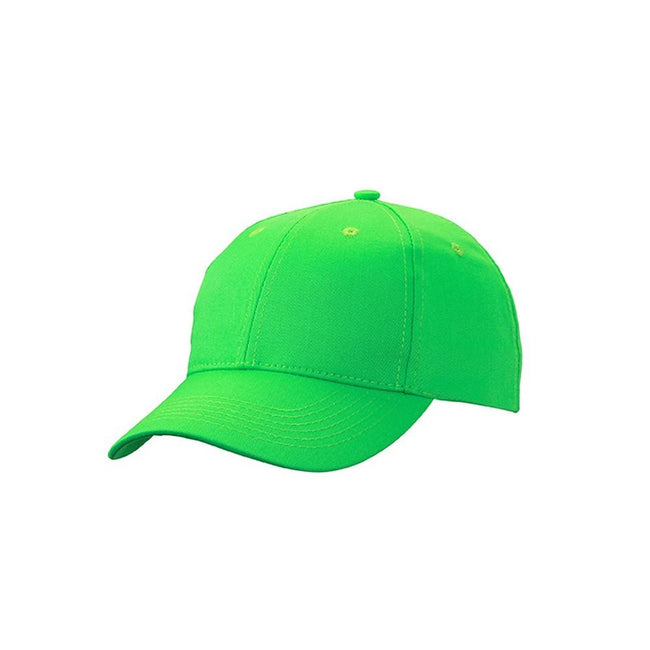 Green - Front - Myrtle Beach Adults Unisex 6 Panel Workwear Cap