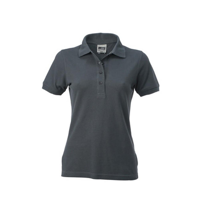Carbon Grey - Front - James and Nicholson Womens-Ladies Workwear Polo