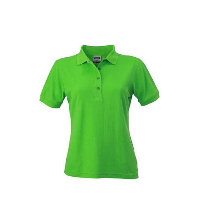 Lime Green - Front - James and Nicholson Womens-Ladies Workwear Polo
