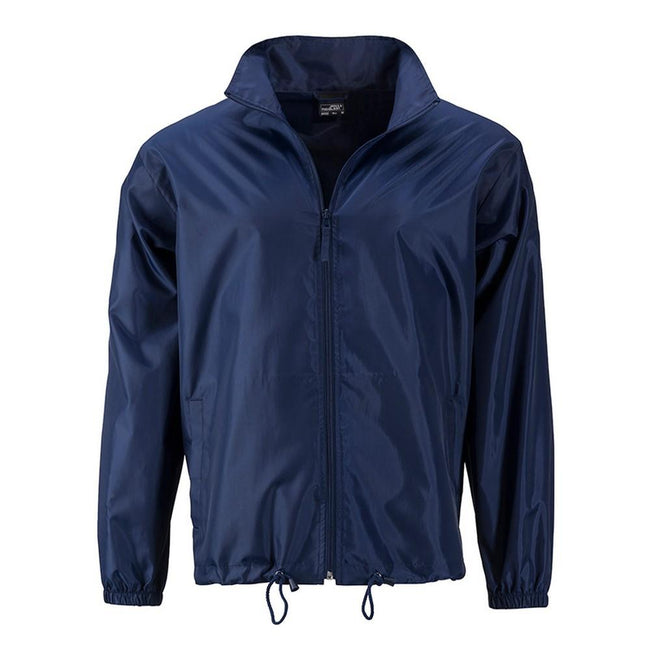 Navy - Front - James and Nicholson Mens Promo Jacket