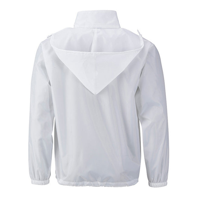 White - Back - James and Nicholson Mens Promo Jacket