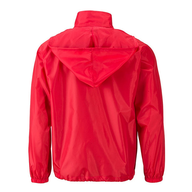 Light Red - Back - James and Nicholson Mens Promo Jacket