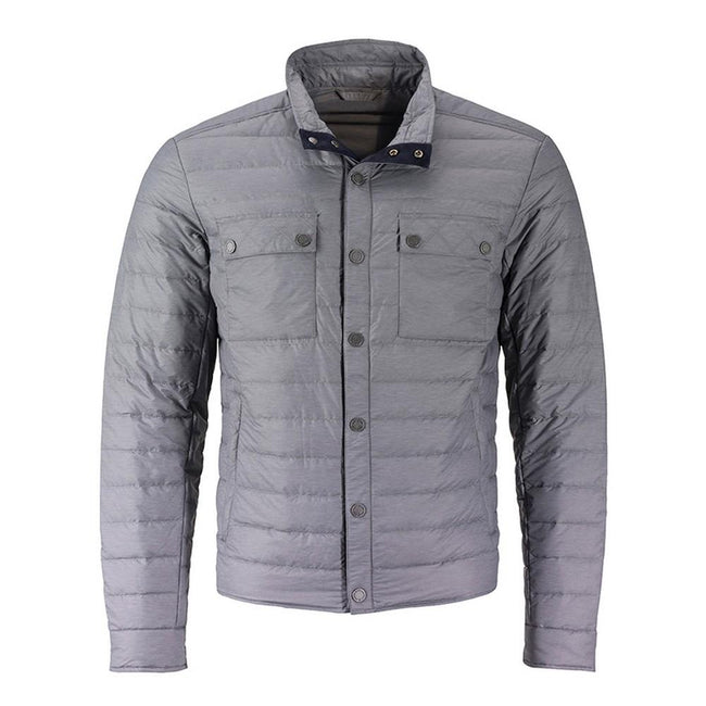Silver Melange - Front - James and Nicholson Mens Lightweight Down Jacket
