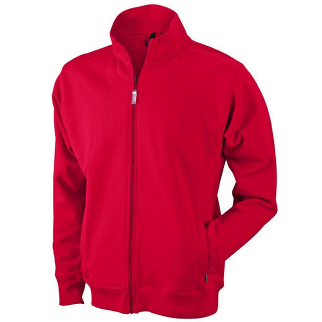 Red - Front - James and Nicholson Mens Jacket